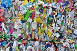 bale of plastics for recycling