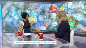 Jo-Anne St.Godard from Recycling Council of Ontario on CTV Your Morning Show discussing plastic waste and Canada's recycling system.