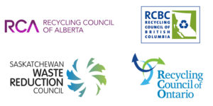 Logos of Canada Recycling Councils